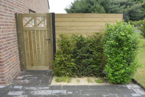 poortje scherm deur geimpregneerd grenen hout constructie