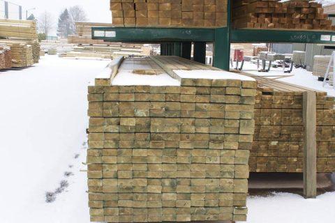 sls geimpregneerd hout constructie