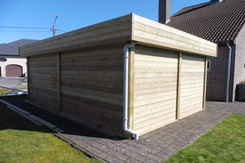 tuinconstructie grenen tand groef hout
