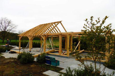 eik palen dak structuur kepers constructie