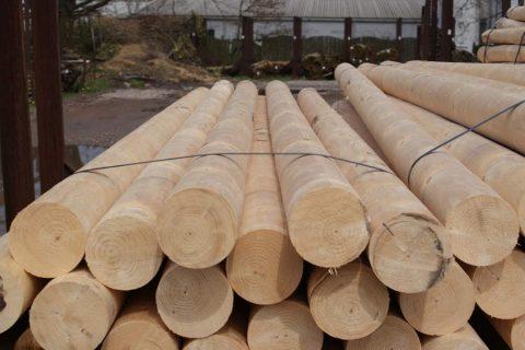 goedkope epicea rondhout palen gefreesd