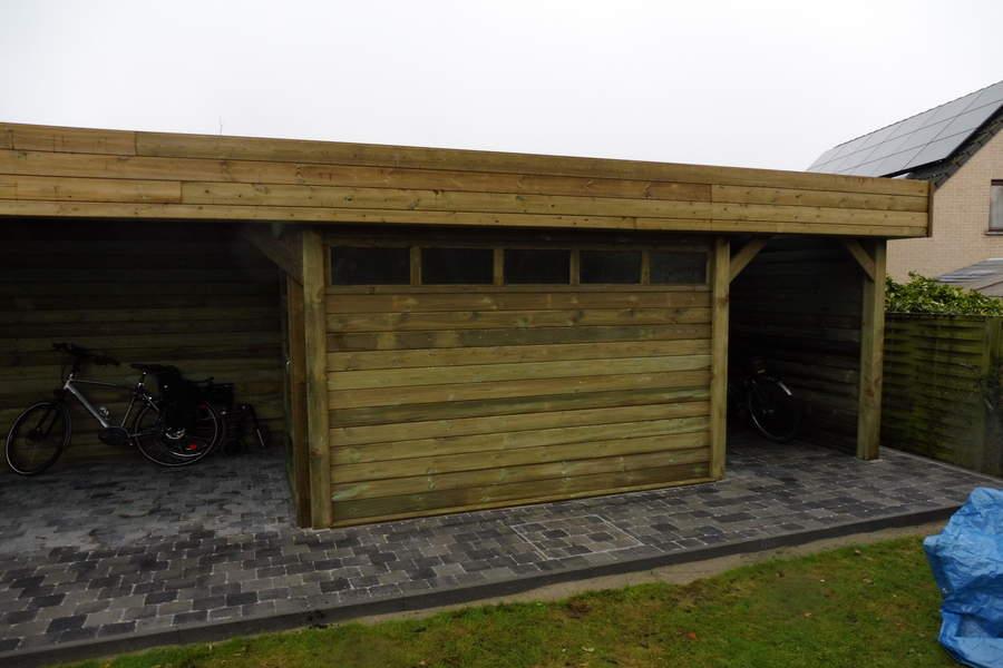 New Fietsenstallingen in Hout - Houten Fietsenberging - Belgo Garant #BP07