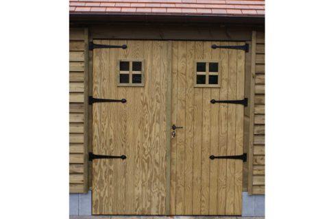 tuinhuis deur raampje geimpregneerd thermowood kader verschillende maten deur
