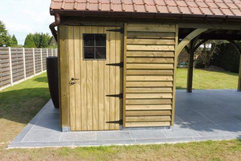 tuinhuisdeur thermowood kader geimpregneerd stalen raam cottage