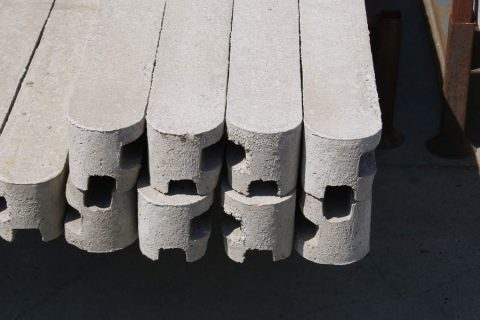 beton gleufpalen schermen schutting afsluiting hout