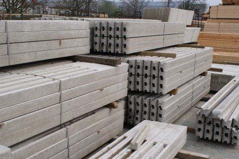 betonpalen met gleuf voor beton tuinschermen prijs Limburg