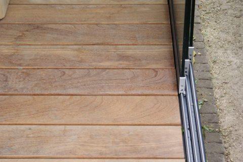 Cumaru terrasplank aanwerking tuinhuis buiten