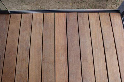 Rode cumaru terras blinde bevestiging clips houten vloer