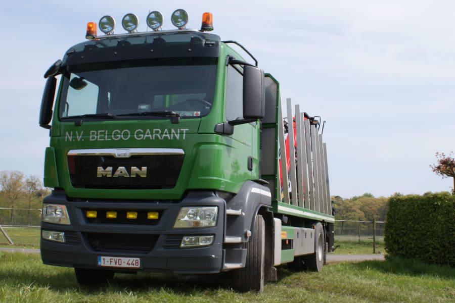 Eigen transport vrachtwagen Belgo Garant
